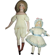 Artist Doll House Dolls - One Bonnet Doll and One Shoulder Head