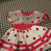 Polka Dot Dress for Your Shirley Temple Doll
