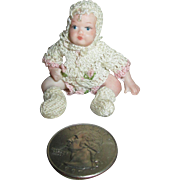 "Tiny 2.25"" Artist Miniature Doll House Doll in Adorable Outfit"