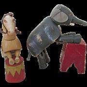 Antique Schoenhut Circus Elephant and Horse