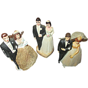 Group of 3 Vintage Wedding Cake Toppers