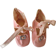 Pink Oilcloth Shoes for Your French Fashion Doll