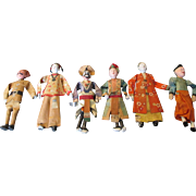 Group Of 6 Chinese Opera Dolls