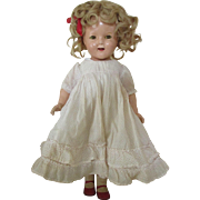 HOLD FOR ADRIENNE - Early Composition Shirley Temple Doll - Sweet Look