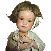 Antique Schoenhut Doll with Sweet Face - Nicely Dressed - Model #316 - Professionally Restored