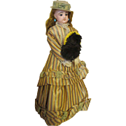 Antique French Fashion Doll in Stunning Outfit