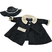 Vintage Coat and Hat Set For Your Doll