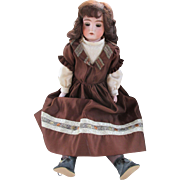 Antique German Bisque Shoulder Head Doll