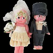 Vintage Kewpie Bride and Groom Set - Celluloid
