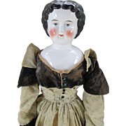 "Stunning Large 28"" China Head Doll with Sweet Face"