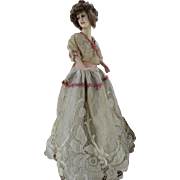 Antique French Boudoir Doll Lamp
