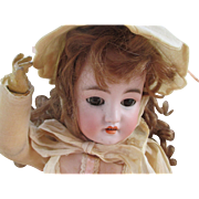 "Lovely 19"" CM Bergmann Simon Halbig Bisque Head Doll"