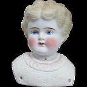 Beautiful Parian Doll Head - TLC