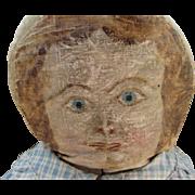 Adorable Primitive Folk Art Cloth Doll