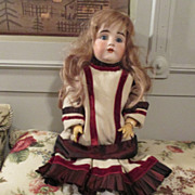 Amazing Kestner Doll - Fantastic Dress - Human Hair Wig