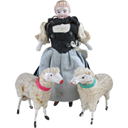 Vintage Christmas Putz Woolly Sheep