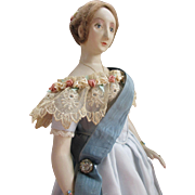 Artist Sculpted Queen Victoria Doll in Stunning Outfit