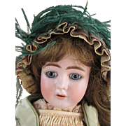 Sweet Bisque Head Doll in Sensational Outfit Marked 1909