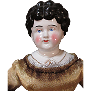 Antique China Head Doll - Named Bertha