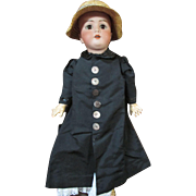 Antique Doll Coat with Straw Hat