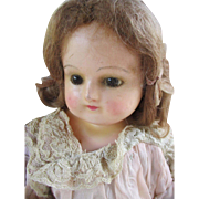 Antique Wax Over Composition Head Doll - Red Tag Sale Item