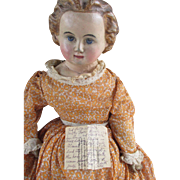 "Early 25"" Papier Mache Shoulder Head Doll"