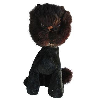 Black Fur Faced Kitty for your Antique Doll