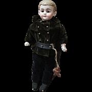 Antique School Boy Bisque Head Doll