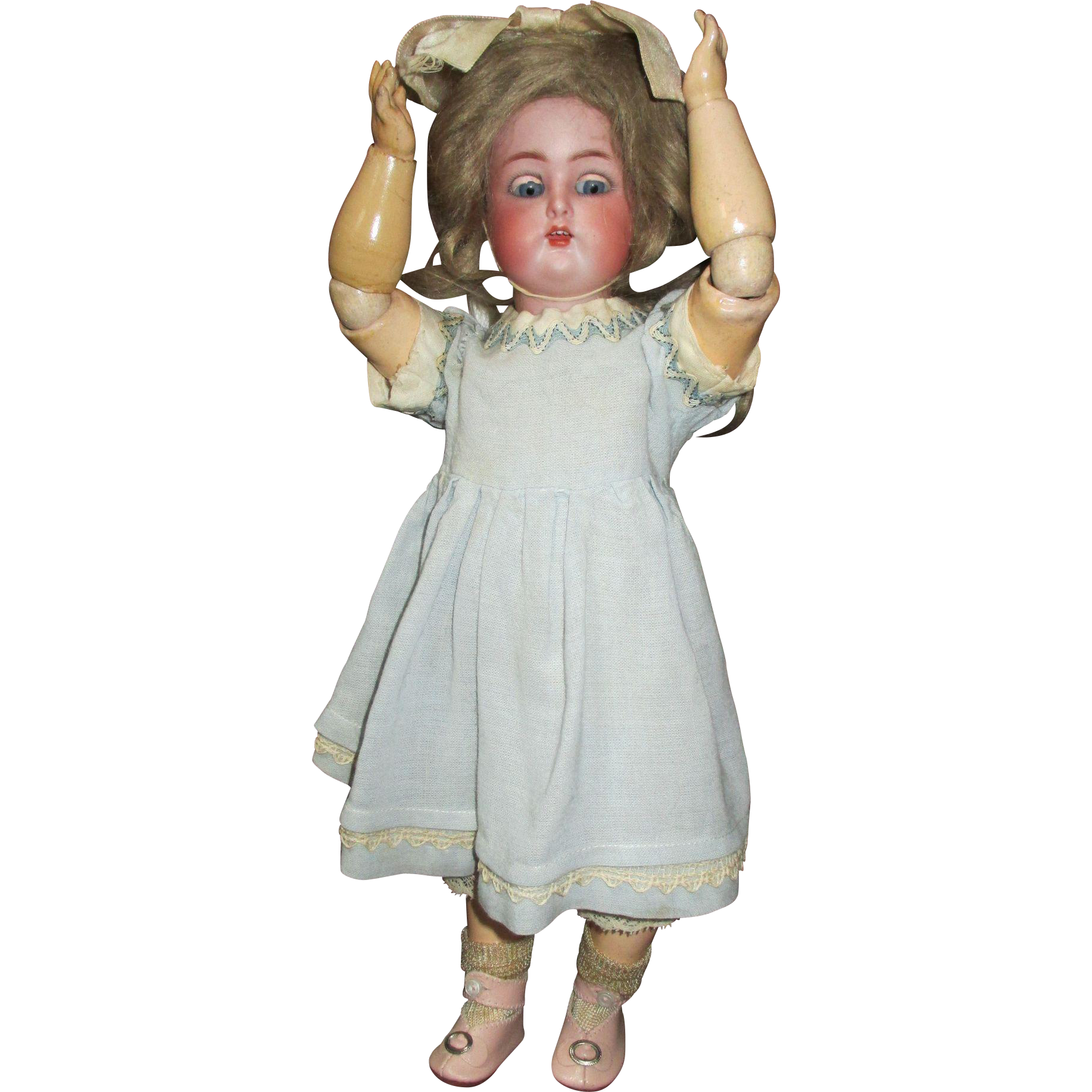"Stunning 13"" K Star R Simon Halbig Bisque Head Doll"