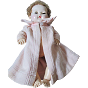 "Pink Vintage Eiderdown Coat for Your 15"" Dy Dee Baby"