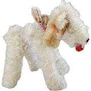 Vintage Chenille Dog - Perfect Doll's Companion