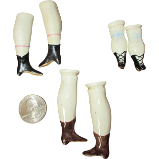 3 Sets of China Doll Legs - Replacement Doll Legs