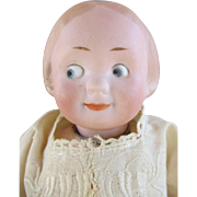 Antique German Googly Doll with Molded Hair