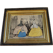 Antique Godey Lady Paper Dolls in Wonderful Frame