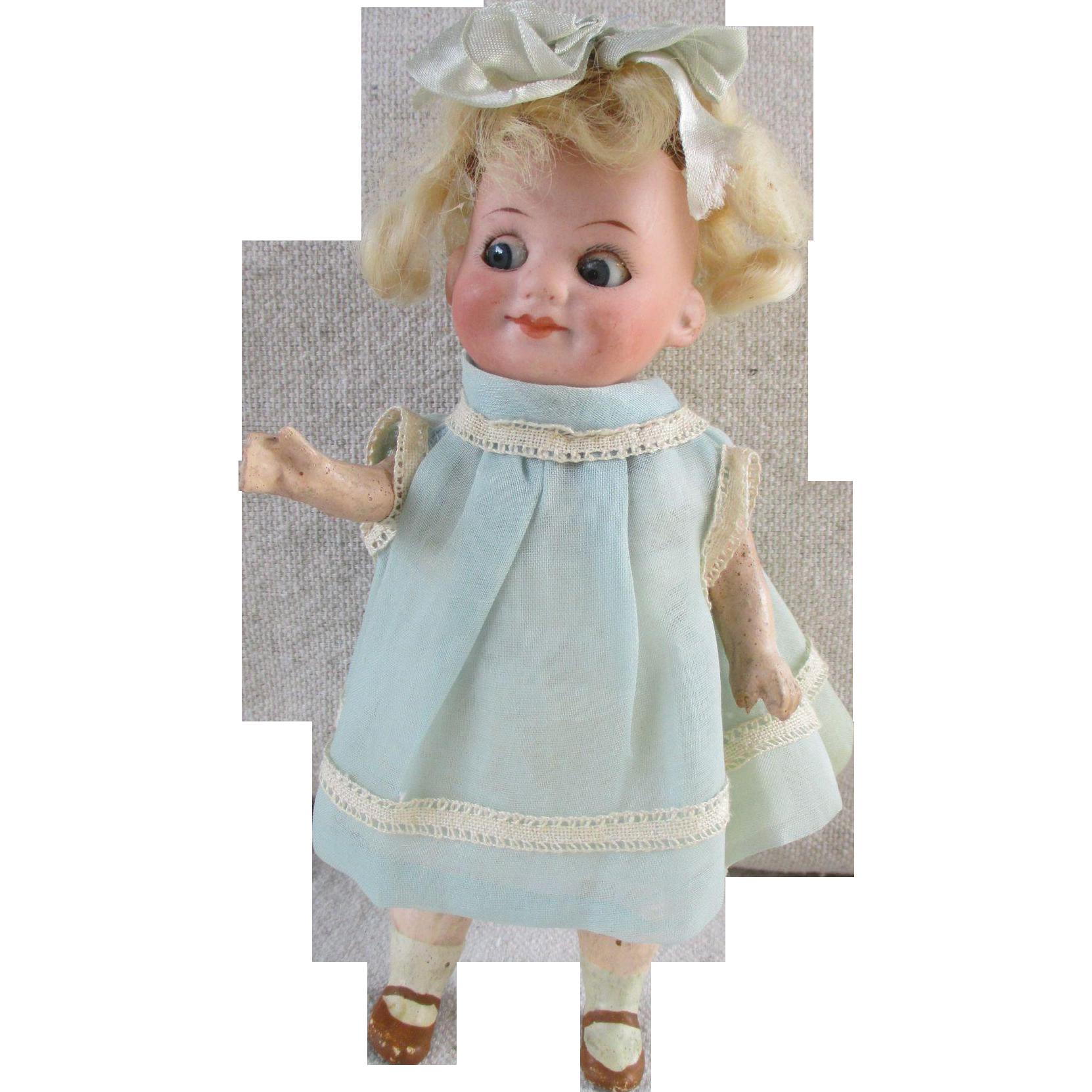 Antique German Bisque Head Googly Doll