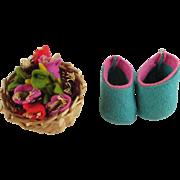 Vintage Lenci Shoes and Flower Basket