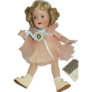 All Porcelain Shirley Temple Danbury Mint Doll in Perfect Condition