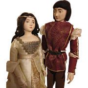 Shirley White Romeo and Juliet Dolls - Artist Dolls