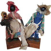 Black Americana Folk Art Dolls