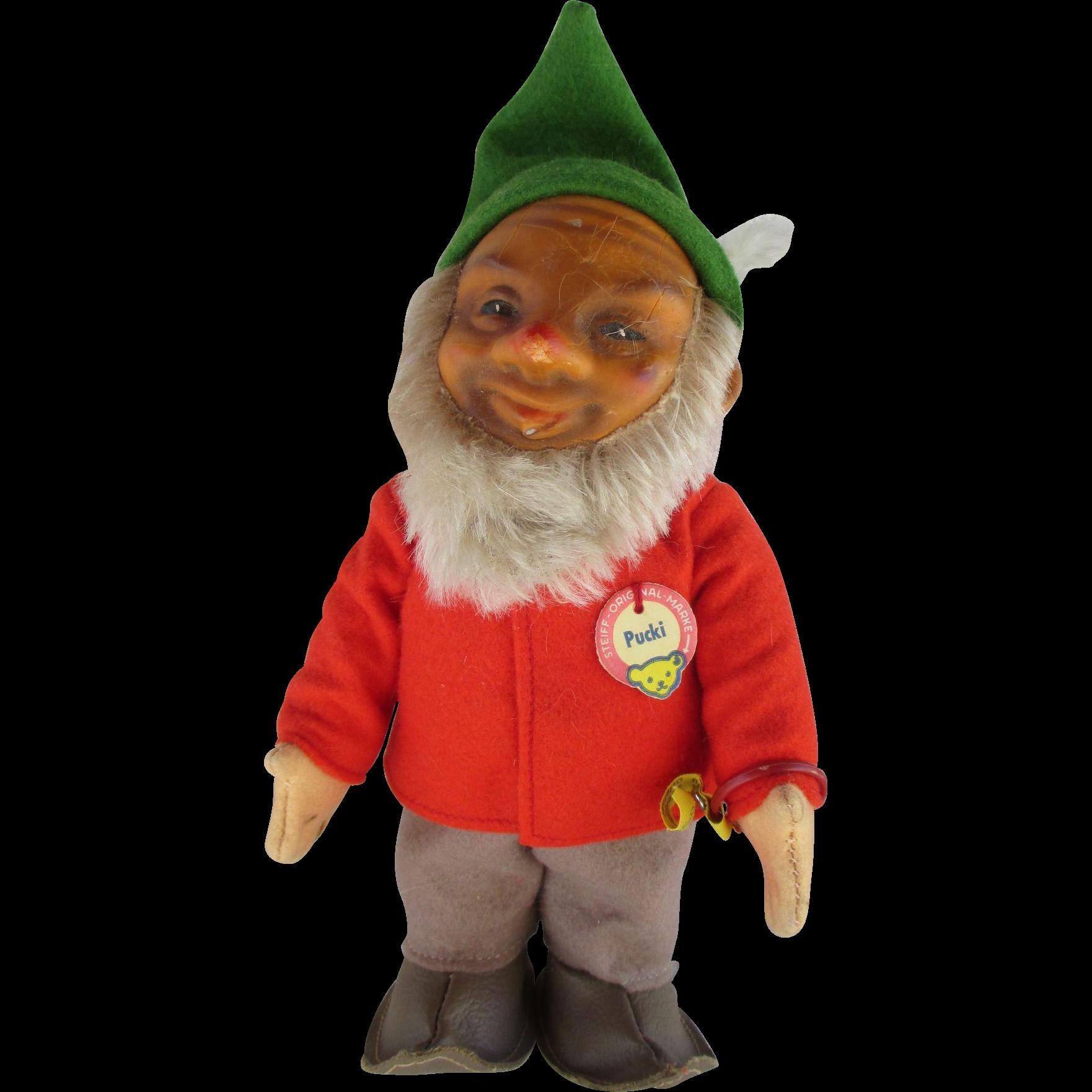 1950's-1960's Steiff Pucki Gnome Elf Doll
