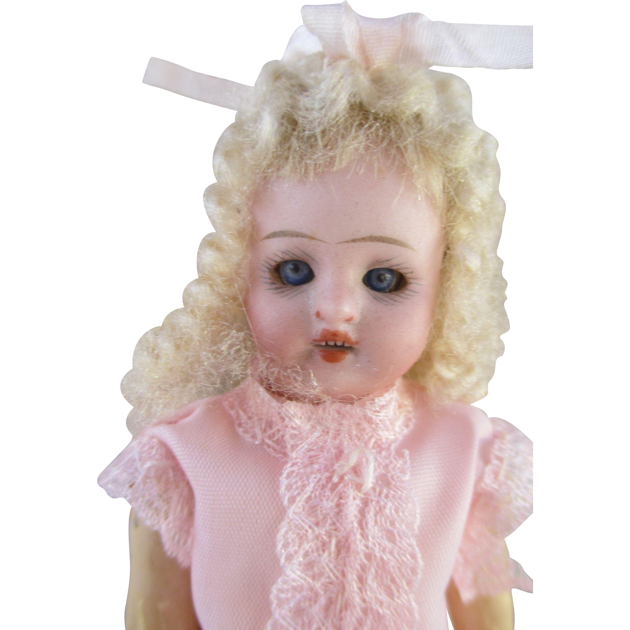 Adorable Antique Bisque Head Doll