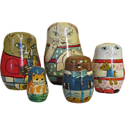 Sweet Kitty Nesting Dolls