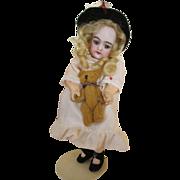 """Sweet 8.5"""" Heinrich Handwerk Bisque Head Doll on Articulated Body"""