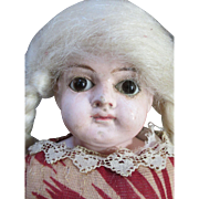"Endearing 13"" Paper Mache Head Doll"