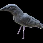 Vintage Paper Mache Halloween Crow