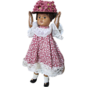 "Antique French SFBJ Mulatto Doll marked ""SFBJ 60 Paris"""