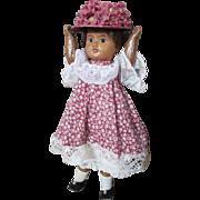 """Antique French SFBJ Mulatto Doll marked """"SFBJ 60 Paris"""""""