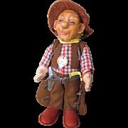 "Rare Vintage 8"" Steiff Cowboy"