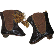 Antique French Doll Boots with Tassles