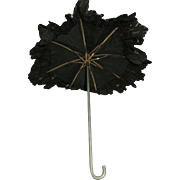 Lovely Black Parasol For Your French Fashion Doll